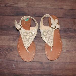 Tan Coach Sandals- Size 8